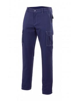 Pantalón  multibolsillos goma elastica.