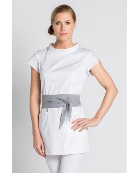 Casaca blanca spa con cinturón