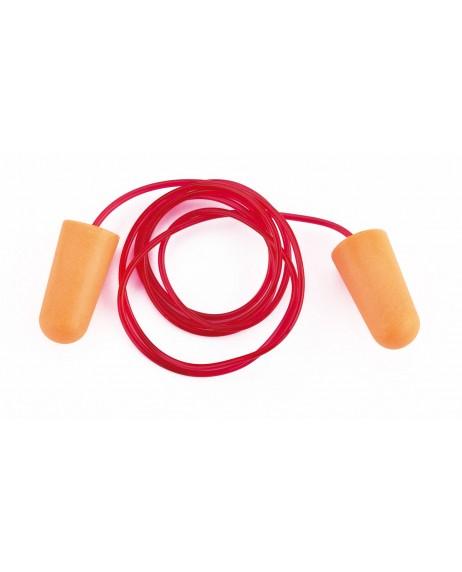 Tapón auditivo desechable con cordón